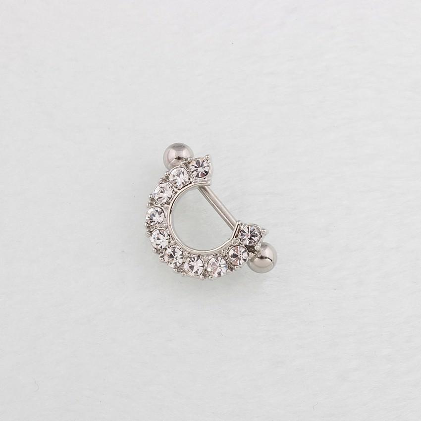 11672-aac10a6a5f4510bb05a0fb901533dac6 2pcs Elegant Semi-Circle  Nipple Body Jewelry With Crystals
