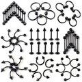 10pcs/lot Black Stainless Steel Nipple / Body Piercing Jewelry
