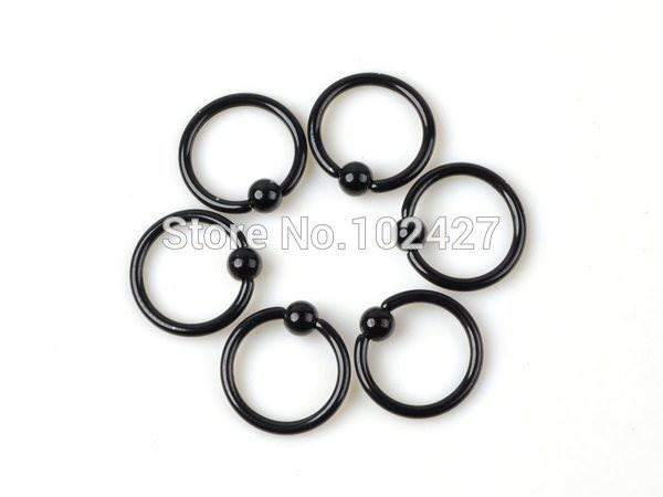 11674-a36ad9dd738d65384bbe9fc0a6703204 10pcs/lot Black Stainless Steel Nipple / Body Piercing Jewelry
