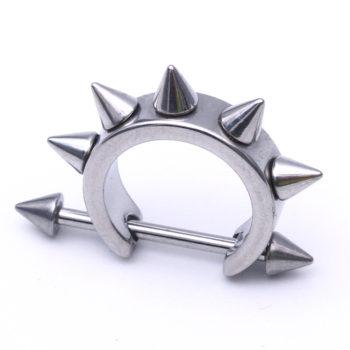Free Shipping 1PCS Black Silver Piercing Lobe Earring ear nail wholesale Fashion body piercing jewelry tragus ring Nipple Rings