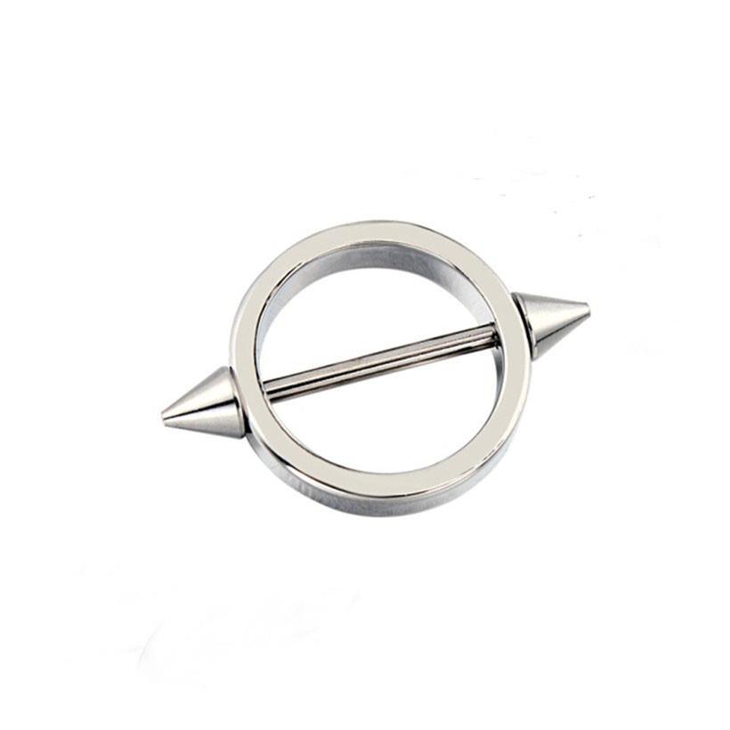 11680-61e520e5a1b78937e9043a791cd7aa53 Sleek Studded Nipple Shield Body Jewelry In Black Or Chrome