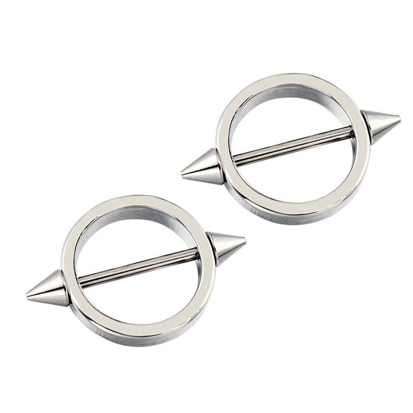 11680-9c31ffa9b845773684f3618879a9ae79 Sleek Studded Nipple Shield Body Jewelry In Black Or Chrome