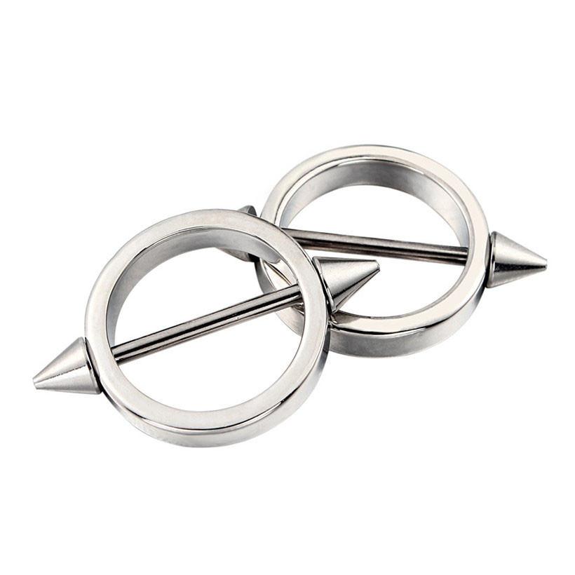 11680-b30f1c1b2209d2c6838821daaf4f7440 Sleek Studded Nipple Shield Body Jewelry In Black Or Chrome