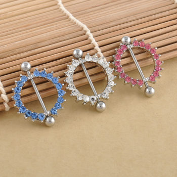 Charming Crystal Nipple Shield Body Jewelry For Nipples Or Navel