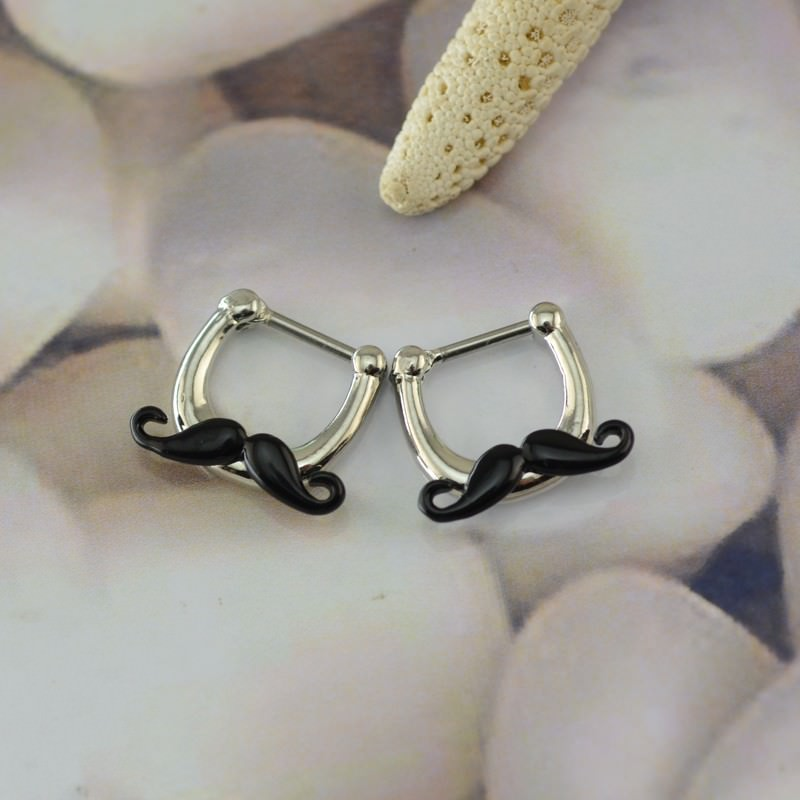 11683-19c3b91b9d00f34ac79c03898b4731fe Hypoallergenic Adorable Funny Mustache Nose Ring Body Jewelry