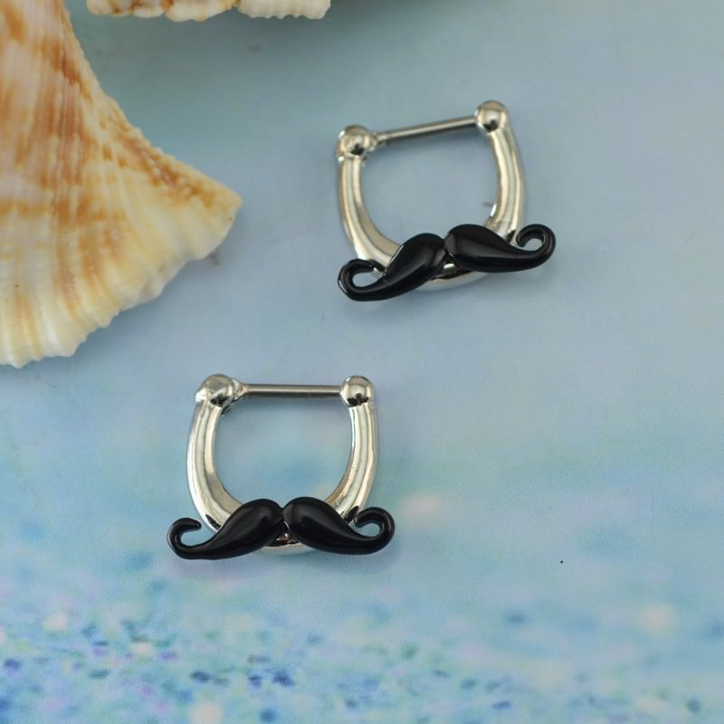 11683-ee5e3f72534be718e34146ee9e585b20 Hypoallergenic Adorable Funny Mustache Nose Ring Body Jewelry