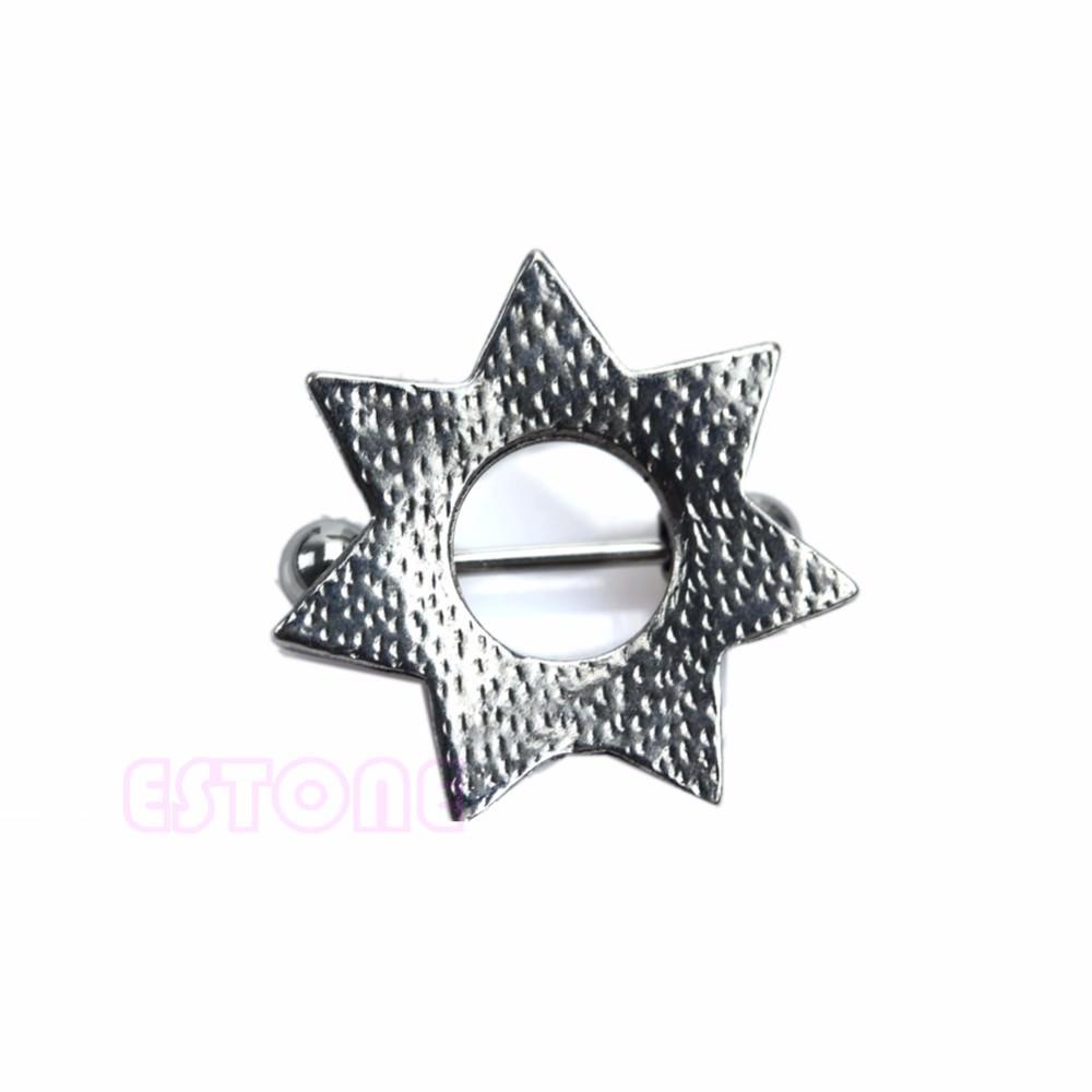 11685-5a303942f71214a683737ed99f762130 Surgical Steel Retro Star Shape Sheriff Badge Nipple Shield Body Jewelry