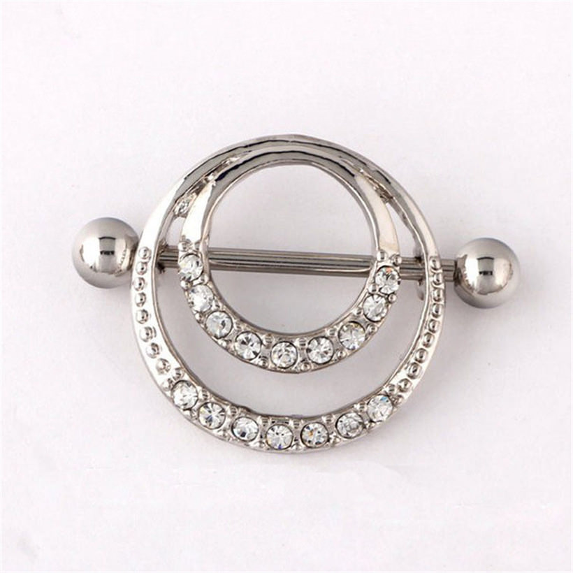 11687-c13202034dfeaeb7e0efbe66a0cb6d53 Trendy Double Ringed Nipple Shield Body Jewelry With Rhinestones