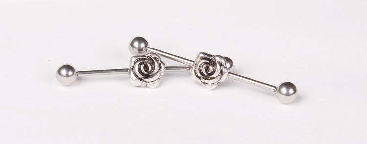 11688-3398b7da1e821f4fa88fcf7c2db6cb6f 1 Pc Surgical Steel LA/ Anchor/ Owl / Rose Barbell Stud Body Jewelry