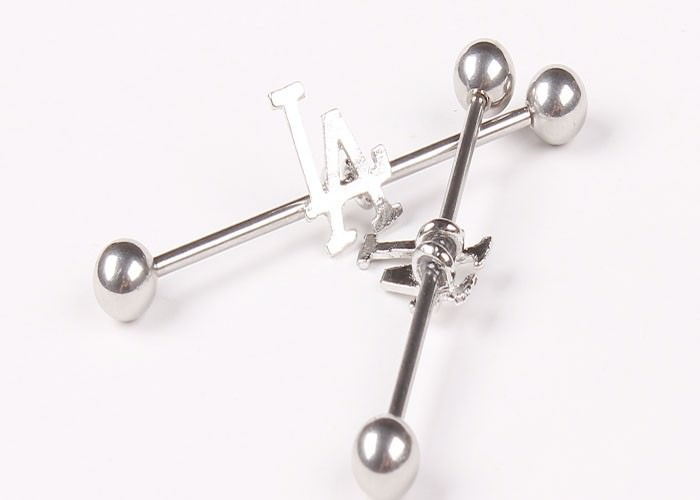 11688-8c5d5fc1d95f5c51eaa292ea4918fdd4 1 Pc Surgical Steel LA/ Anchor/ Owl / Rose Barbell Stud Body Jewelry