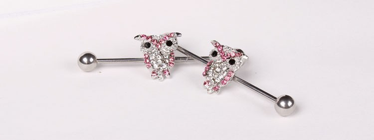 11688-ba4af903fb048d4788776593ab8d0c98 1 Pc Surgical Steel LA/ Anchor/ Owl / Rose Barbell Stud Body Jewelry
