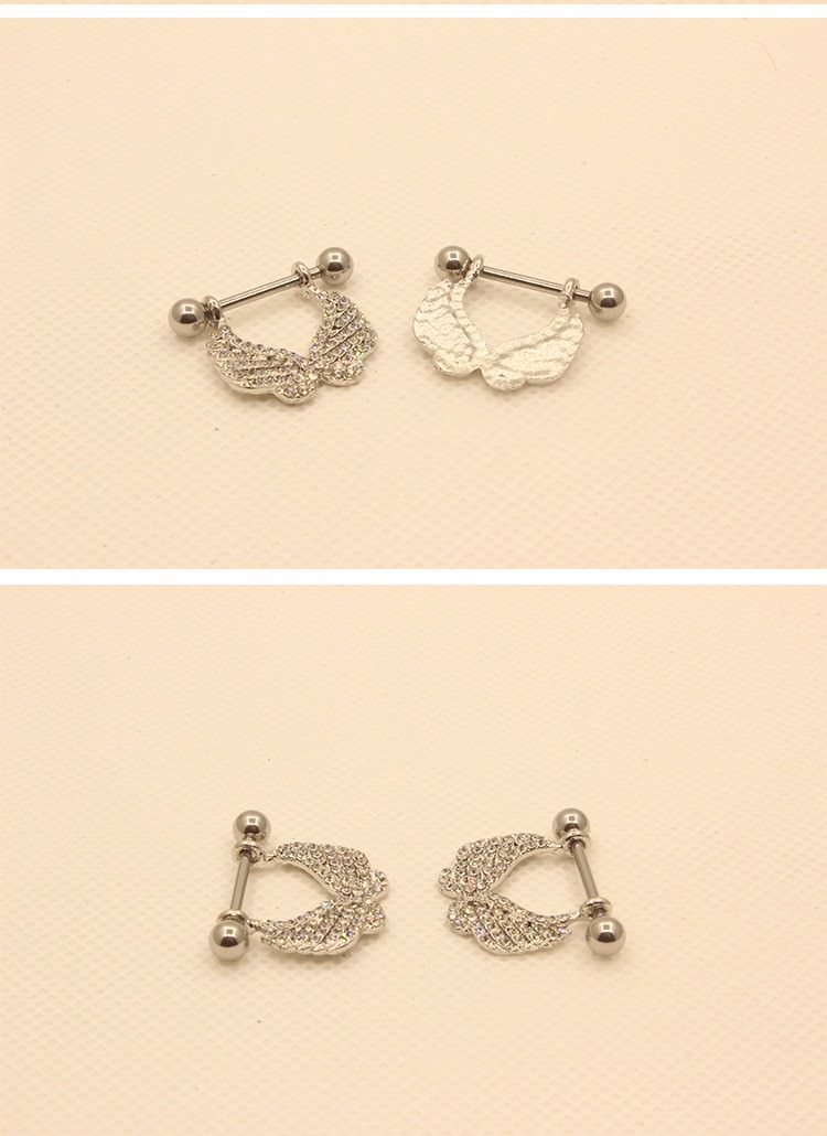 11690-2cc1e79bd500257ac8433df2b926afd0 2 Pcs Elegant Gemmed Wings Nipple Shield Body Piercing Jewelry