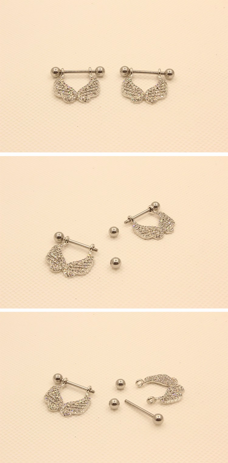 11690-38eaf786cdaf9ff387a80d4ffd4ee994 2 Pcs Elegant Gemmed Wings Nipple Shield Body Piercing Jewelry