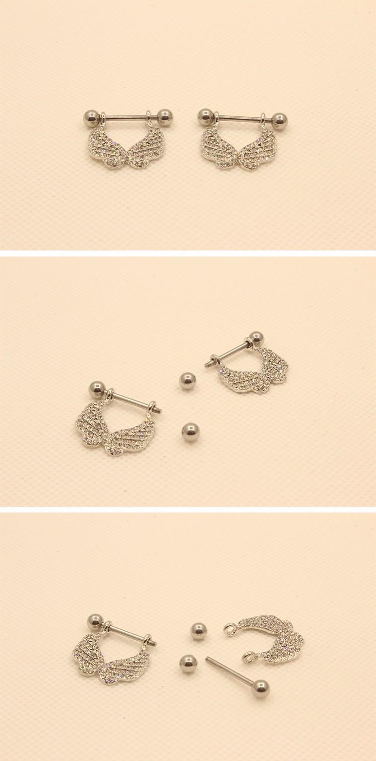 11690-38eaf786cdaf9ff387a80d4ffd4ee994 2 Pcs Elegant Gemmed Wings Nipple Shield Body Piercing Jewelry