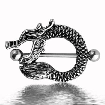 Stainless Steel Fierce Dragon Body Piercing Jewelry For Belly Or Nipple