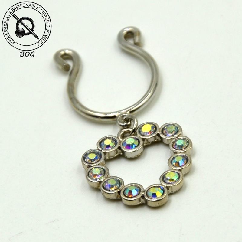 11697-ea70e3ea7924b5a011b9039f341aec7c Sexy Pair Of Clip On Nipple Body Jewelry With Rhinestone Tassel Dangle