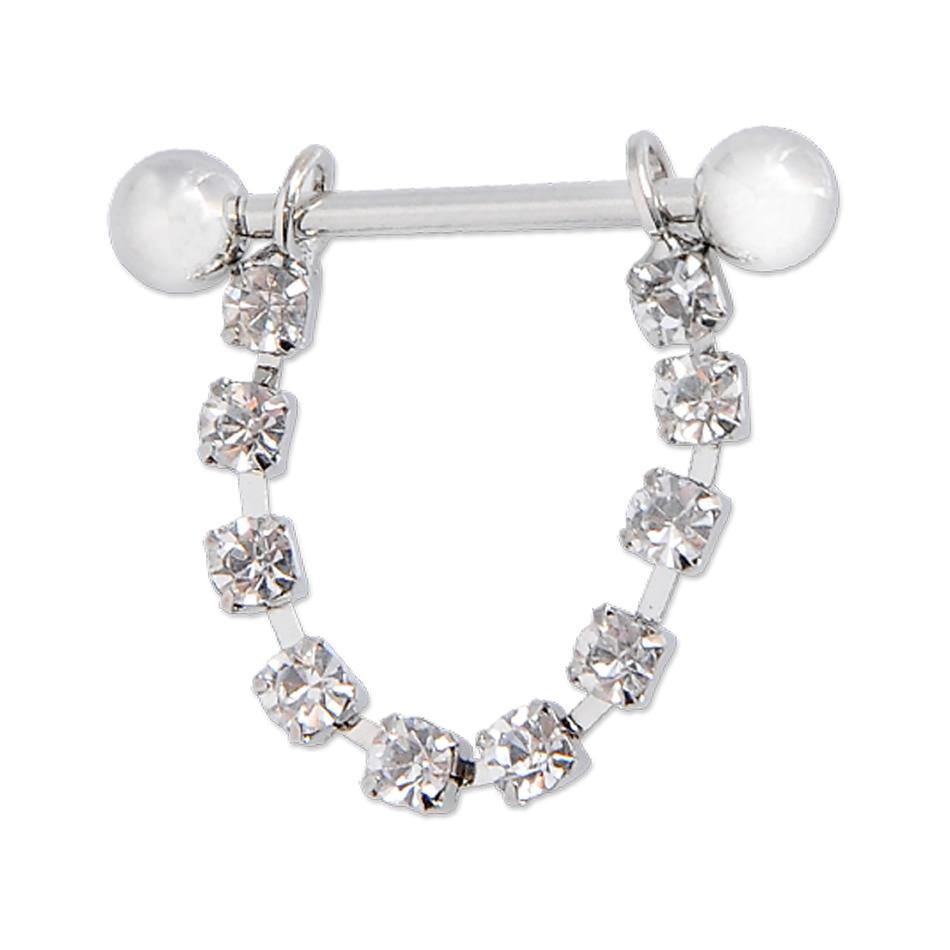 11700-50ce5e5bd46ed79b8db5a9d466a2f48f White Surgical Steel Bar Shield Nipple Body Jewelry With Rhinestones