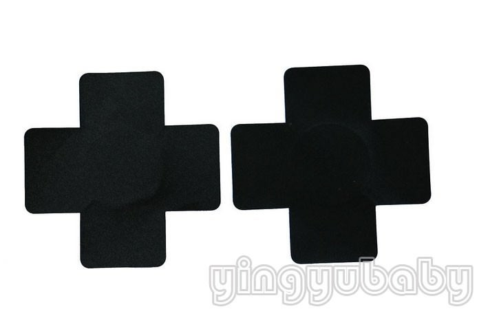 11701-9bba9670de41d3cf3e76238434064aee Pair Of Large Cross Adhesive Nipple Sticker Body Jewelry