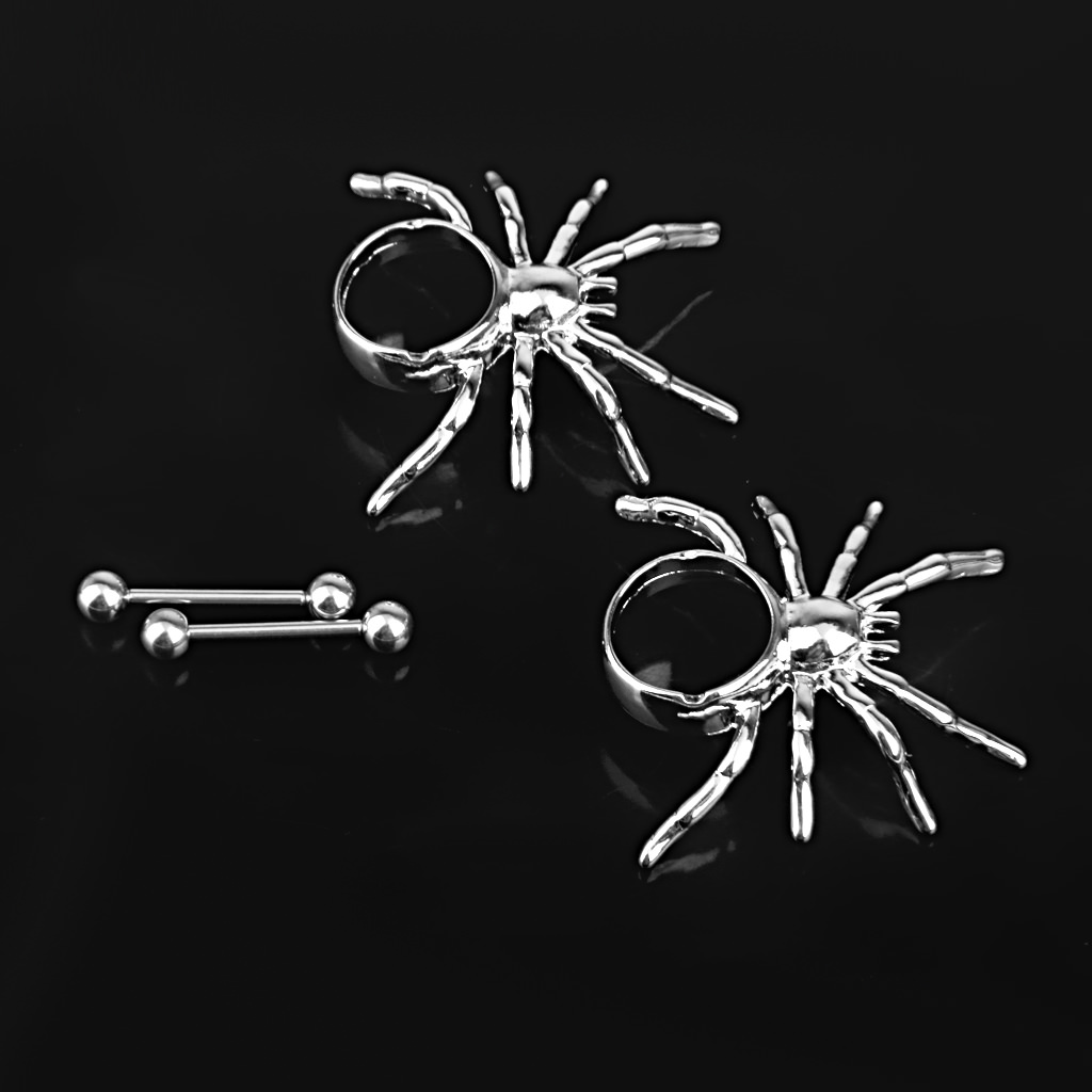 11702-147cbb25aaca14bf61568ba30b1cc2c6 1 Pair Stainless Steel Spider Nipple Shield Body Piercing Jewelry