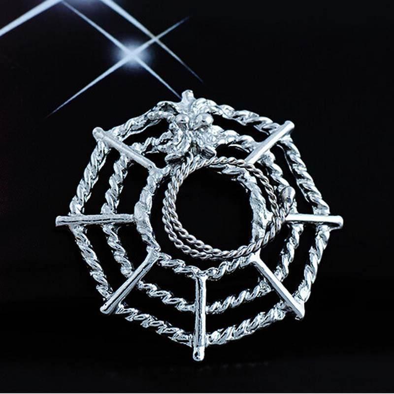 11706-881eb6be8df5b95f5c21fc4d00bf2b0d Surgical Steel Spider On Web Fake Nipple Body Piercing Jewelry