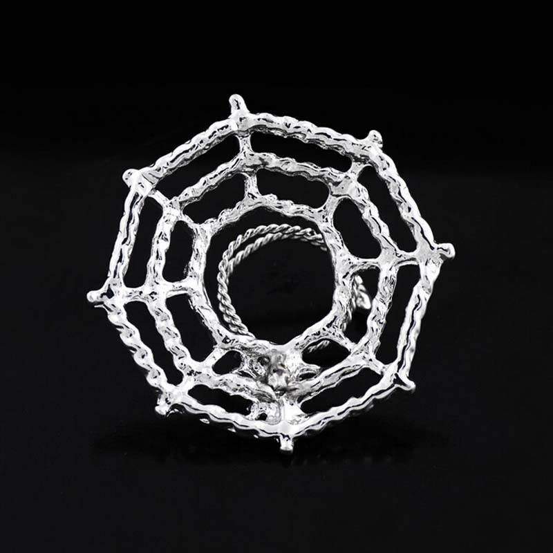 11706-98d4ecdbb8aa83d7729d236e98d8caf8 Surgical Steel Spider On Web Fake Nipple Body Piercing Jewelry