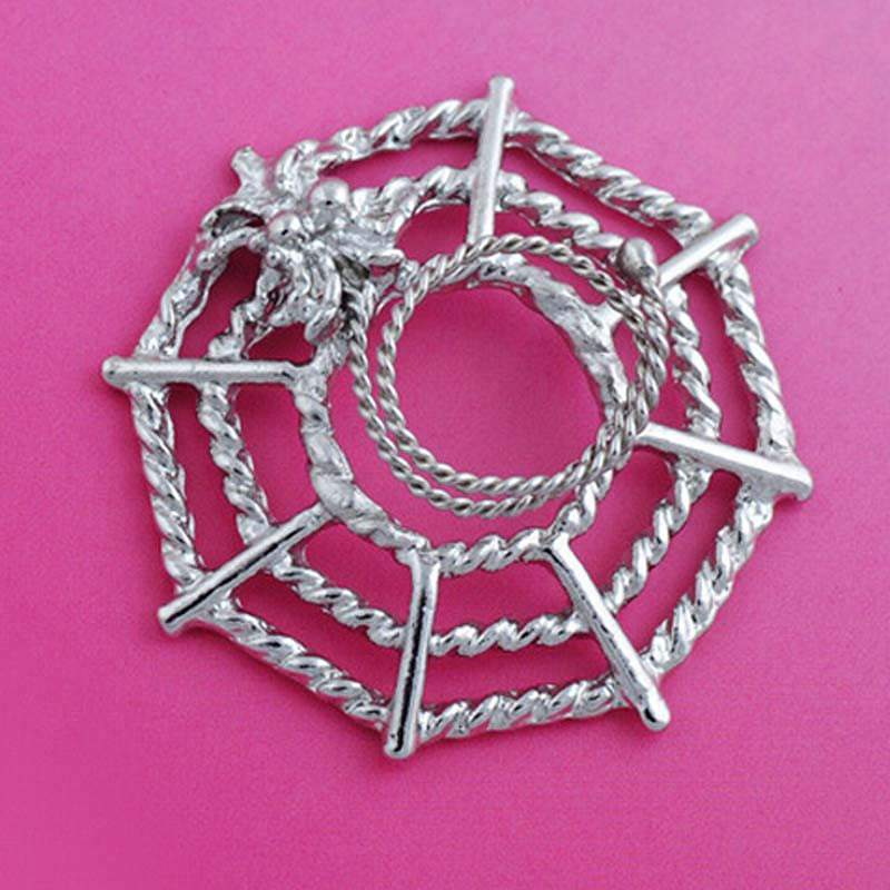 11706-bc9df49c736e5e199f03756fc984fdcf Surgical Steel Spider On Web Fake Nipple Body Piercing Jewelry