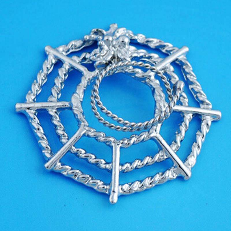 11706-e7dd2ee086b1d007ac0424d4343c0674 Surgical Steel Spider On Web Fake Nipple Body Piercing Jewelry