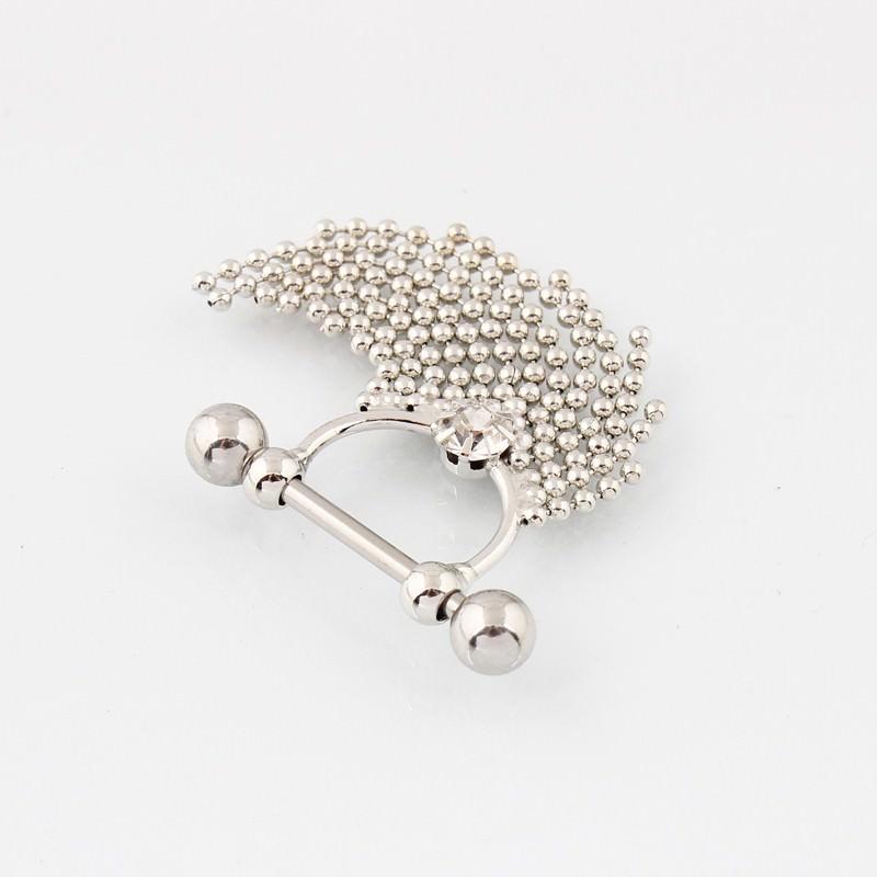 11708-90b1f89f44d5557425876819d8b80a5a Pair Of  Surgical Steel Bar With Tassel Dangle Jewelry For Nipples