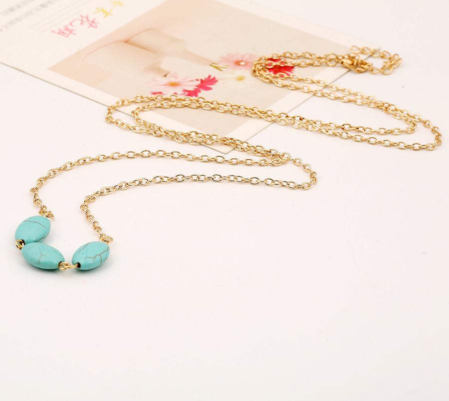 1923-2f4fd58ce5a44422da166727f412b8ad Sexy Summer Lady Bikini Chain Jewelry With Oval Turquoise Beads