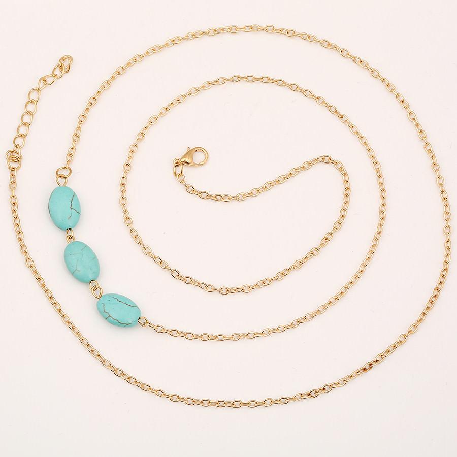 1923-e2835327e6eee99780fa4db9a7fe9bdc Sexy Summer Lady Bikini Chain Jewelry With Oval Turquoise Beads