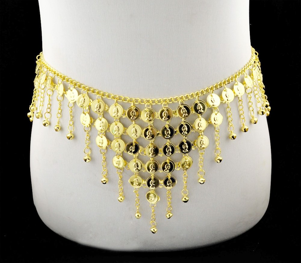 1942-29b208d941499f9098c69216c90f10ff Gypsy Gold Belly Chain Jewelry With Vintage Coins And Bell Tassels