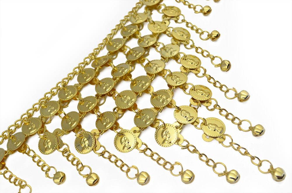 1942-e3e3989a7ff7975e69581182b5a15053 Gypsy Gold Belly Chain Jewelry With Vintage Coins And Bell Tassels