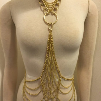 Big And Chunky Night Club Party Body Chain Bib Statement Jewelry