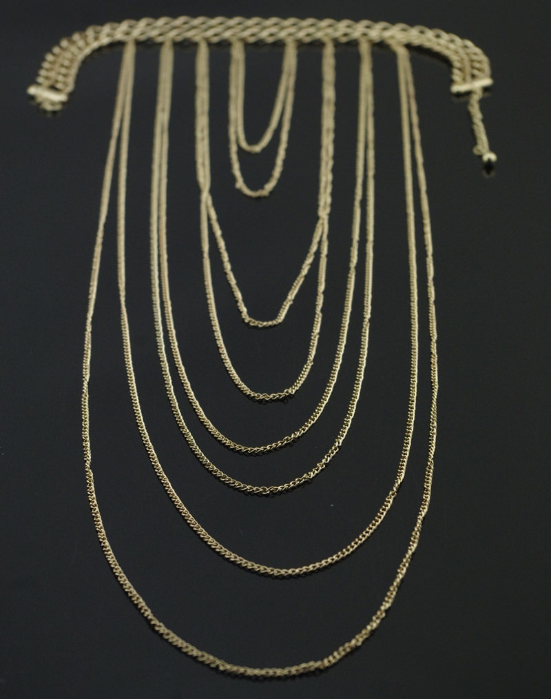 1953-106c4f5a14f94492489417b2813ae173 Chunky Gold Plated Choker With Sexy Body Chain Jewelry
