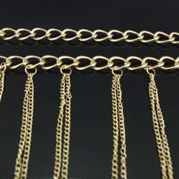 Chunky Gold Plated Choker With Sexy Body Chain Jewelry