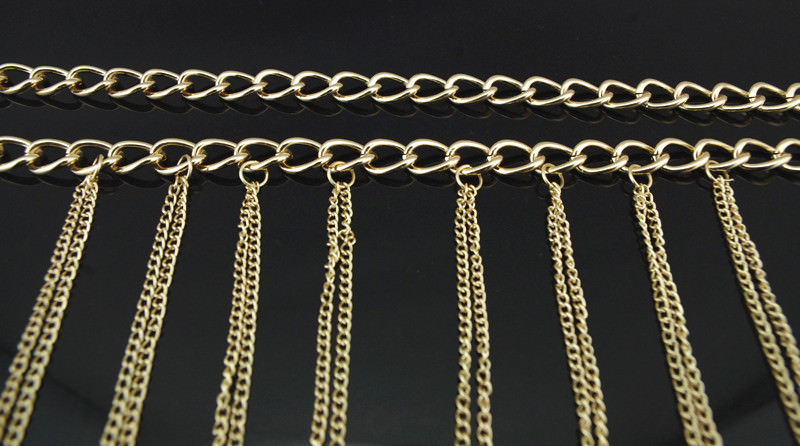 1953-68221028c17b26b0bebc196d109d2ac3 Chunky Gold Plated Choker With Sexy Body Chain Jewelry