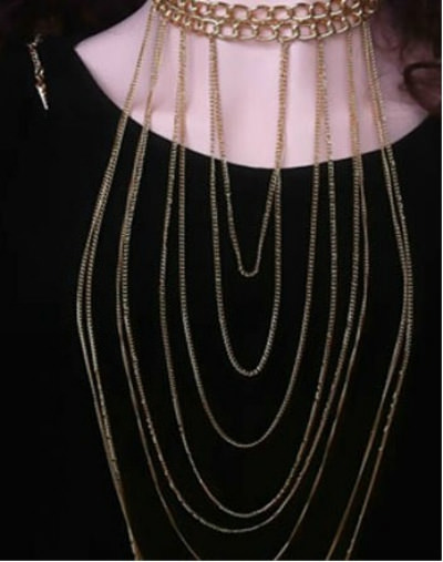 1953-c3a1a1ae5244b70bc468662a931b1be4 Chunky Gold Plated Choker With Sexy Body Chain Jewelry