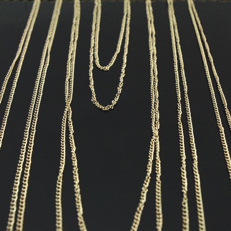 1953-f00686fb14c6c5df2112a1e9a59b7e66 Chunky Gold Plated Choker With Sexy Body Chain Jewelry