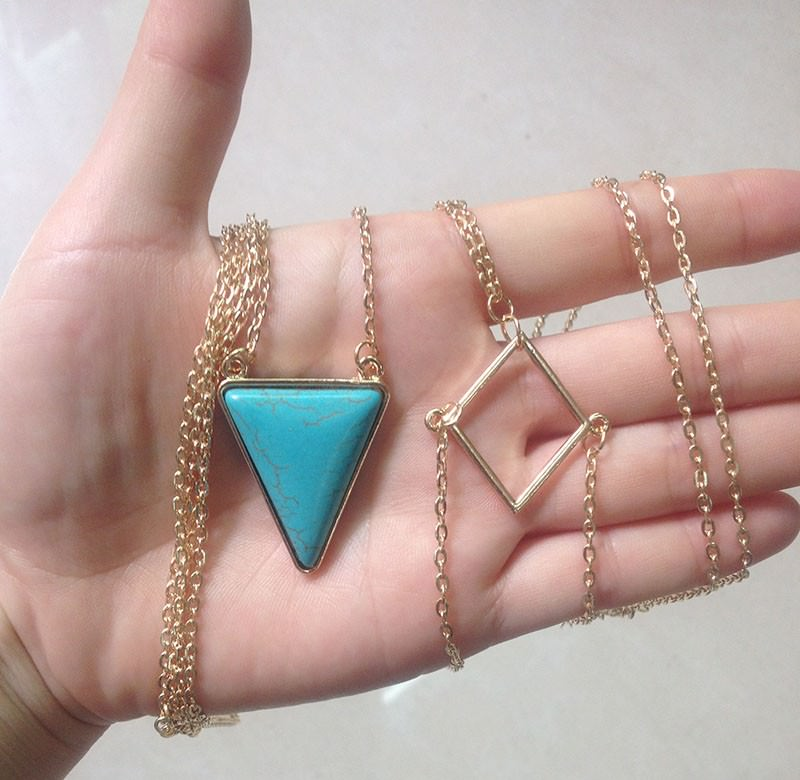 1960-4b321a8dc0d12c80d6f0b82b5759fe4b Captivating Body Chain Necklace With Bijoux Triangle Turquoise Stone