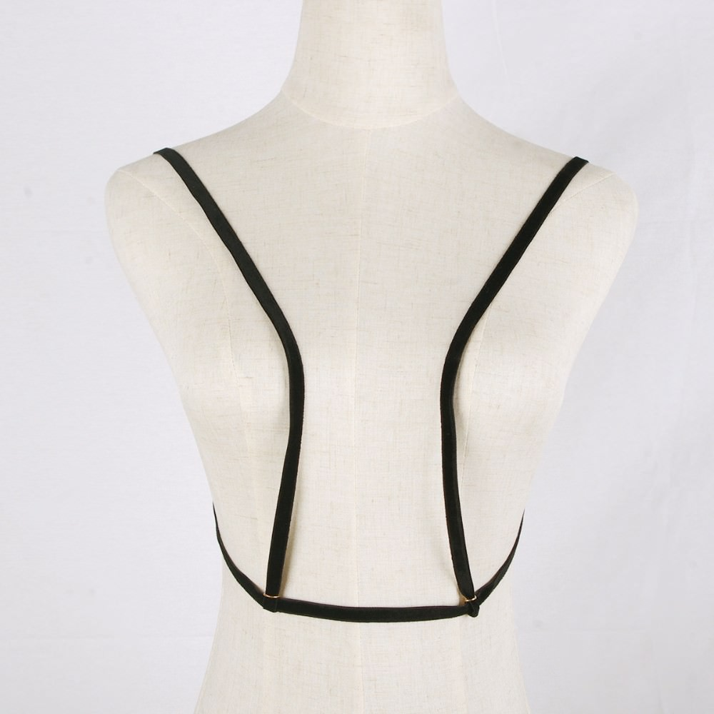 1963-a7b4d037c236394be8d9c942726a44f3 Gothic Plain Velvet Body Harness Jewelry For Women