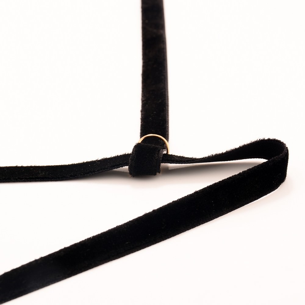 1963-f4a17c1c4861d87cb34c84eee265380b Gothic Plain Velvet Body Harness Jewelry For Women