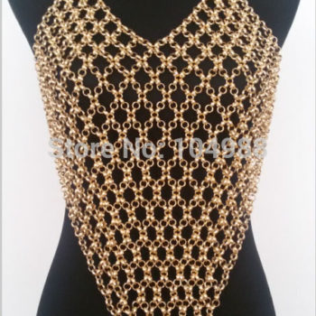 Sexy Gray/Gold/Silver Long Body Chain Harness Jewelry For Women