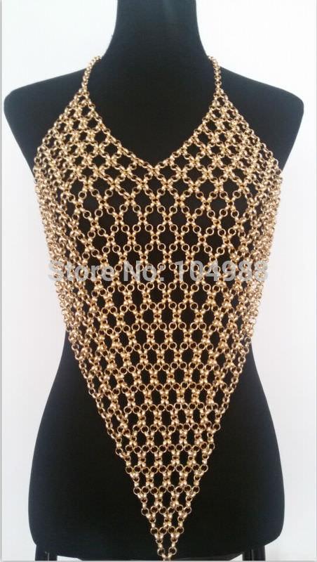 1966-980914a6b27d801ebc64b82c3f7a8c2d Sexy Gray/Gold/Silver Long Body Chain Harness Jewelry For Women
