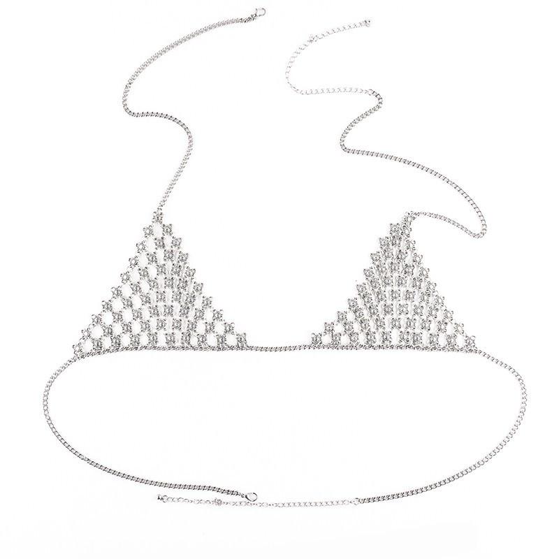 1969-251c650697bee1c255830a26db54701b Vintage Chainmaille Bikini Top Harness Body Chain Jewelry