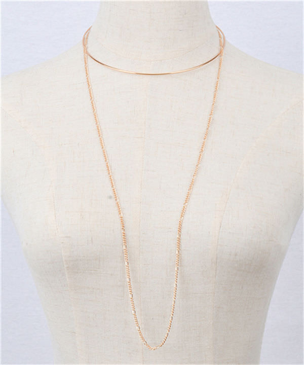 1970-4456a77c038803ecb689c80a17fadc10 2-in-1 Choker and Chain Necklace