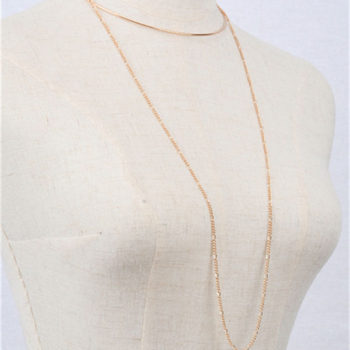 Statement Metal Choker Necklace With Long Body Chain Tassel