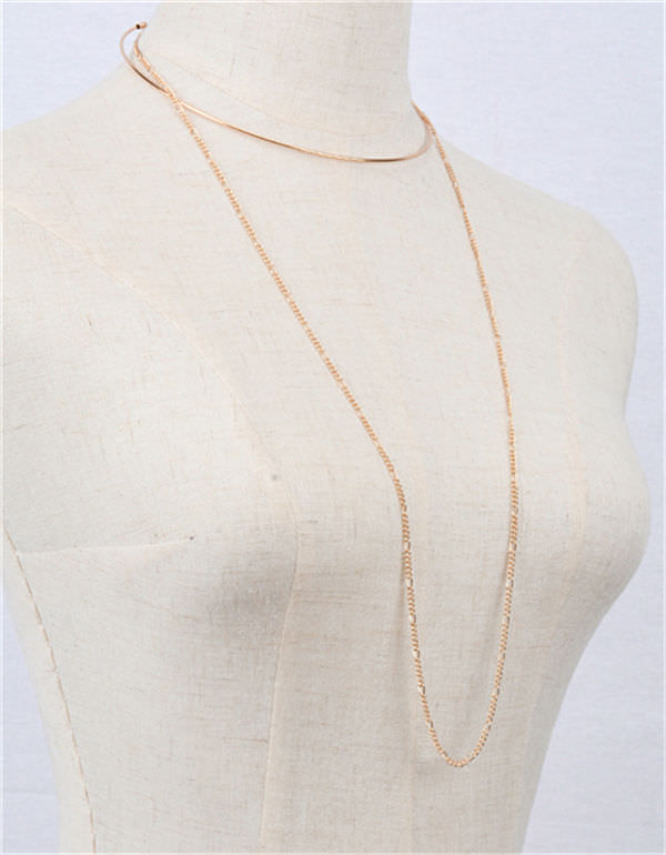 1970-748732580931ea97e6454876b3ee312e 2-in-1 Choker and Chain Necklace