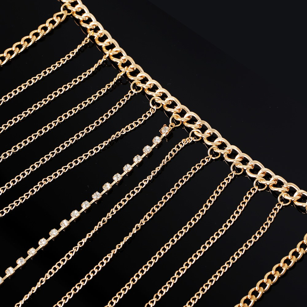 1971-85460de9631914145932b2f30cbb5a95 Multi-layer Body Chain Jewelry With Rhinestone Beaded Chain Accent