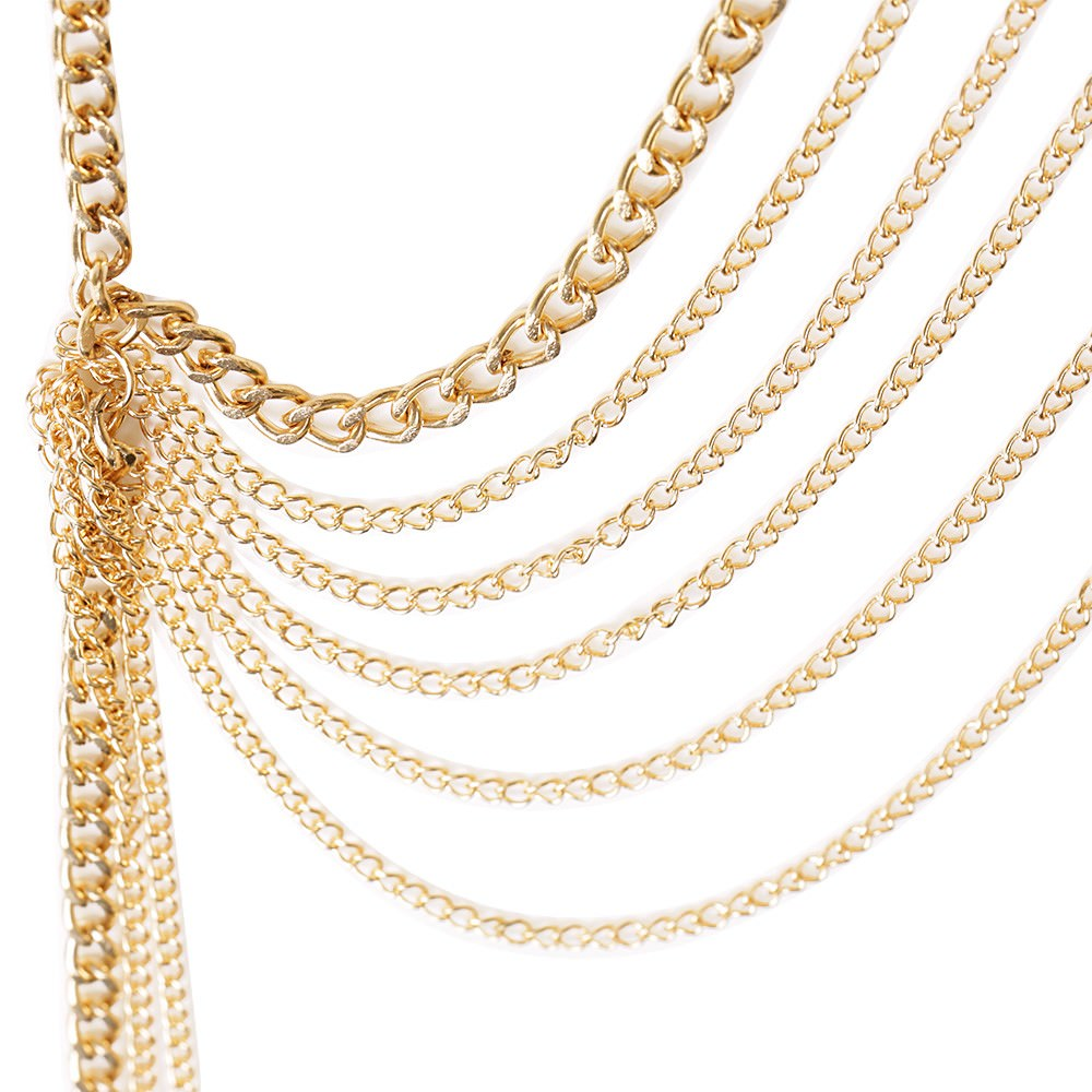 1971-d434563b5a3c6f081c338cecd06f8471 Multi-layer Body Chain Jewelry With Rhinestone Beaded Chain Accent