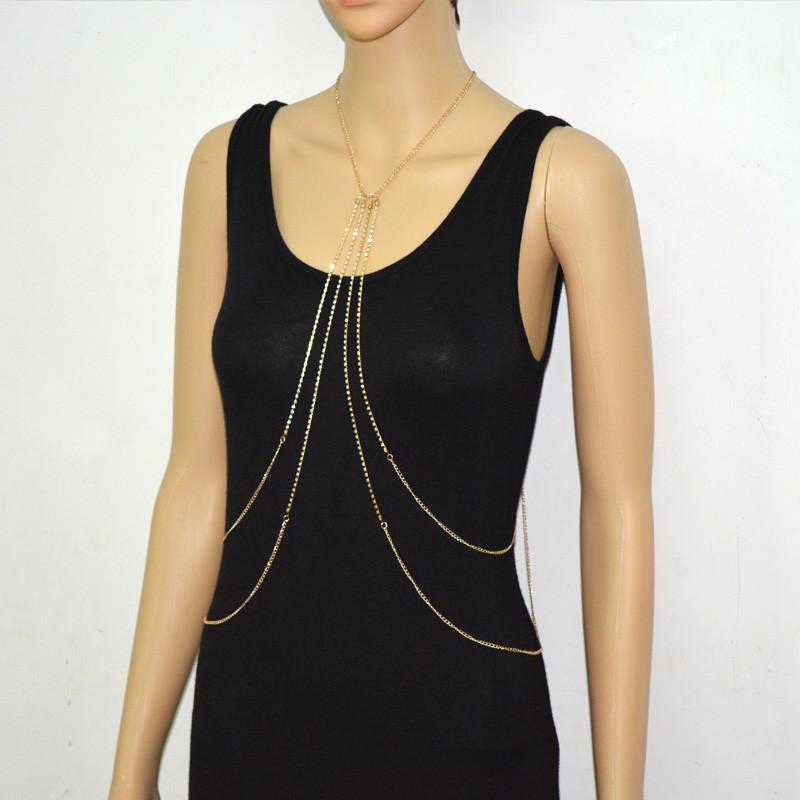 1984-4ef4364e23274793108b8fc5a1dc05db Multi-layer Rhinestone Crystal Rihanna Body Chain Necklace For Women